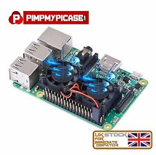 Ultimate Heatsink Cooler with Dual cooling fans for Raspberry Pi 2/3 B+ Retropie