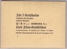 Film - Großbilder Mappe 4 Union Cigarettenfabrik Dresden 1937