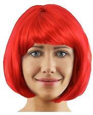 RED BOB WIG SHORT FANCY DRESS COSPLAY FASHION BABE HALLOWEEN DEVIL ANIME HAIR