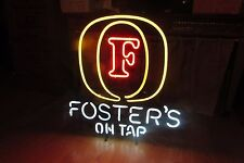 """Vintage Foster's On Tap Neon Beer Sign 24""""T Large RARE Man Cave Decor #3079"""