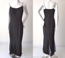 LOVER'S Women's Dress Vintage Black  Maxi Made in Australia Size 8 US 4