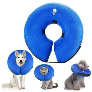 1PC Blue Soft Comfortable Protective Dog Inflatable Collars for Puppy Pet Cat