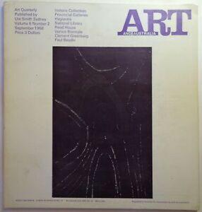 Ed. Mervyn Horton ART AND AUSTRALIA VOL 6 NO. 2 MAGAZINE JOURNAL QUARTERLY 1968