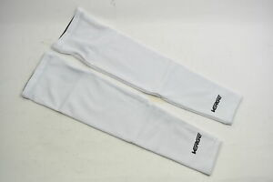 Verge XS Super Roubaix Fleece Cycling Arm Warmers White Brand New