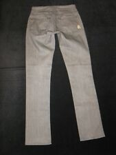 Rich & Skinny Slick Jeans Low Rise Slim Straight Leg Stretch Gray Sz 24