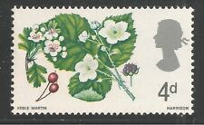 Great Britain #488 (A196) Vf Mnh - 1967 4p Hawthorn and Wild Blackberry - Flower