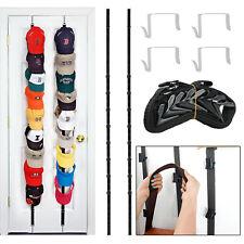 New listing 2pcs Baseball Cap Hat Holder Rack Storage Organizer Over the Door Hanger Holders