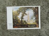 Vintage fine art print - Salisbury Cathedral by John Constable - ready to frame