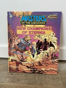 Vtg 80s He-Man Masters Of The Universe New Champions Eternia Book Cartoon comic