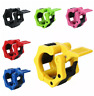 "2 Pcs Olympic 2"" Spinlock Collars Barbell Dumbell Clips Clamp Weight Bar Looks"