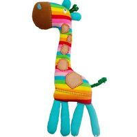 Baby Toddler Kid Children Girl Boy Soft Stuffed Plush Rainbow Rattle Giraffe Toy