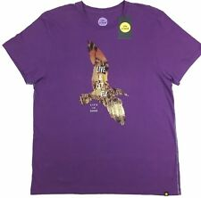 "Life is Good Men's Short Sleeve Purple T Shirt ""Live & Let Fly Bird"" Size XL"