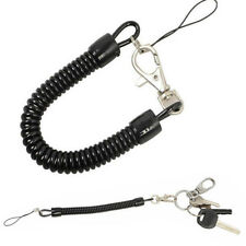 3Pcs Retractable Spring Coil Spiral Stretch Chain Keychain Key Ring Spring Rope