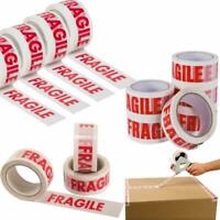 FRAGILE PRINTED STRONG PARCEL TAPE PACKING MULTILISTING 48MM x 66M 1-6