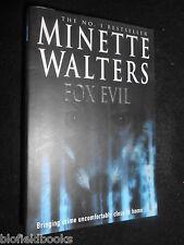 Fox Evil by Minette Walters (Hardback, 2002-1st) Crime Thriller, Fiction/Novel