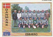 N°031 ESBJERG TEAM EURO FOOTBALL 76 STICKER PANINI VIGNETTE DENMARK DANMARK