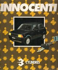 Innocenti 3 Cylindres Early 1980s French Market Foldout Sales Brochure S SL SE