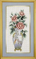 Jarrón de Flores asiáticas esplendor oriental Cross Stitch Kit Elsa Williams 02127