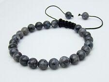Men's Shamballa bracelet all 8mm  NATURAL labradorite stone beads
