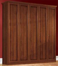 Schlafzimmer Kleiderschrank 5 Türen Nussbaum Furniert Klassisch Italienisch