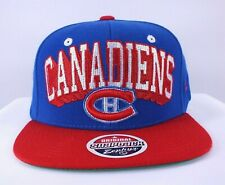 MONTREAL CANADIENS NHL Vintage Logo Blue/Red Snapback Hat Cap New By Zephyr