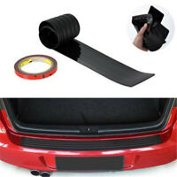Car Rear Bumper Sill Protector Plate Rubber Cover Guard Pad Moulding Trim Black
