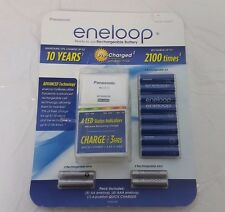 Panasonic Eneloop Rechargeable Batteries 8 AA, 4 AAA, & Quick Charger Kit, NOP
