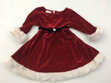 La Princess Baby Girl Santa Claus Dress Size 24M Winter Christmas Kids Adorable