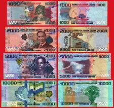 SIERRA LEONE LEONA SET 1000 2000 5000 10000 Leones 2010-2013 Pick 30/33 SC / UNC