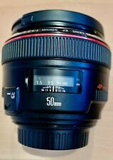 CANON EF 50mm F/1.2L USM LENS EXCELLENT CONDITION NO MARK OR SCRATCHES