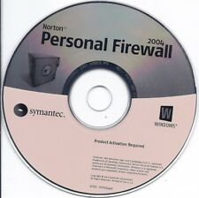 Symantec Norton Personal Firewall 2004 Software CD with serial product key