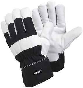 Genuine Leather Heavy Duty Work Gloves Best For Tough/Rough Work Gardening