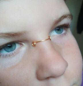 Spiral Nose Cuff Nose bridge cuff Novelty  Non piercing jewelry  nose cuff UK