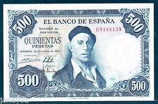 ~ SPAIN  500 Pesetas Banknote - 1954 - P148 ~