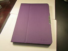GearIt Samsung Galaxy Tab 4 10.1 TABLET Folio Rotate Case COVER PURPLE LOT of 10
