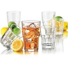Drinking Glassware Glass Set Clear Kitchen Bar Drinkware 16 Piece Drink Glasses
