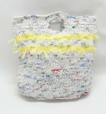 RECYCLED PLASTIC BAG LARGE COLORFUL TOTE BAG - EUC