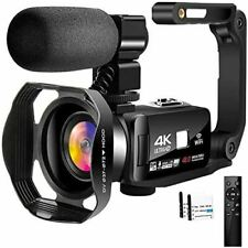 4K Video Camera Camcorder with Microphone 30FPS 48MP Vlogging Camera with Rotata