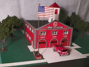HO Scale Fire House Kit