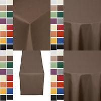Gastro UNI Damast Tischdecke Läufer Eckig Rund Oval Größe Farbe wählbar