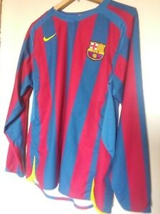 2005-2006 FC Barcelona Barca Home Jersey Shirt Camiseta NIKE L Long Sleeve L/S