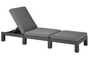 Keter Daytona Sun lounger Allibert Rattan Garden Furniture Grey or Cream Cushion