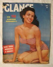 RARE 1952 GLANCE PINUP MAGAZINE W/ NORMA JEAN MARILYN MONROE CENTERFOLD LAYOUT