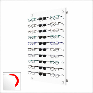 Wall mount Acrylic Optical Frame Display with Hardware - In Polar White (30F)