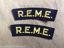 Original WW2 British Army REME Battledress Shoulder Titles