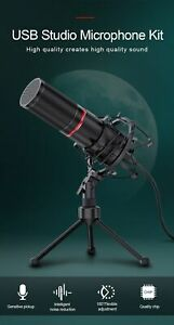 Microphone gaming  Redragon USB Condenser Recording With Tripod (FREE SHUPPINGׁ)
