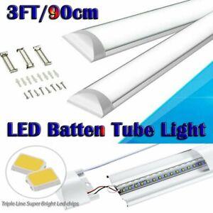 3FT 90cm LED Batten Tube Light Garage Workshop Ceiling Panel Light Bright UK