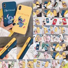 DISNEY CARTOON TPU SILICONA FULL CARCASA FUNDA PARA IPHONE 6S 7 8 PLUS XR XS MAX