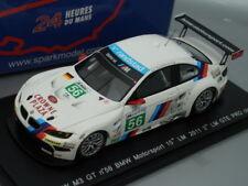 1/43 Spark BMW M3 GT #56 BMW MOTORSPORT 15th LE MANS 2011