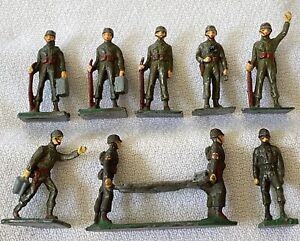SAE 30mm World War II American Infantry LEAD Army Toy SOLDIERS Union S Africa